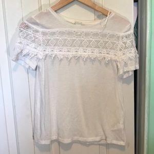 H&M All White Shirt